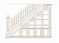 Grand Staircase wirh Bookcase